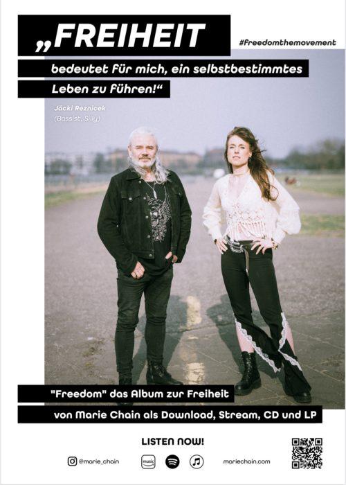 plakat #freedomthemovement jaecki reznicek