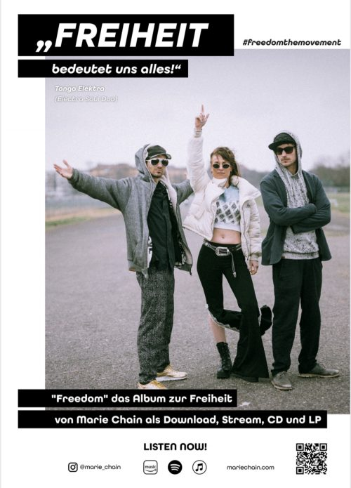 plakat #freedomthemovement tanga elektra