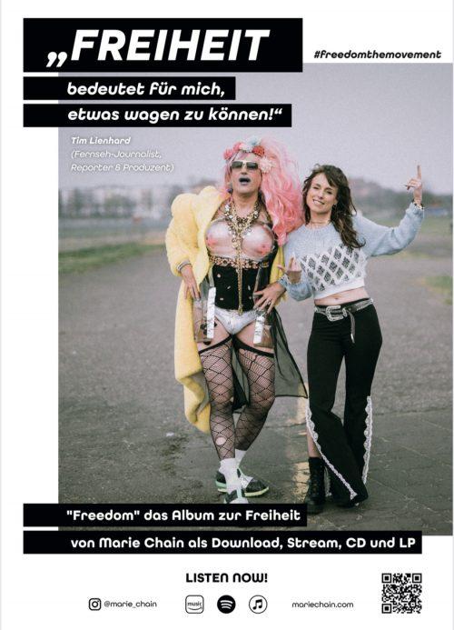 plakat #freedomthemovement tim lienhard