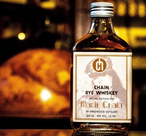 chain rye whiskey bottle